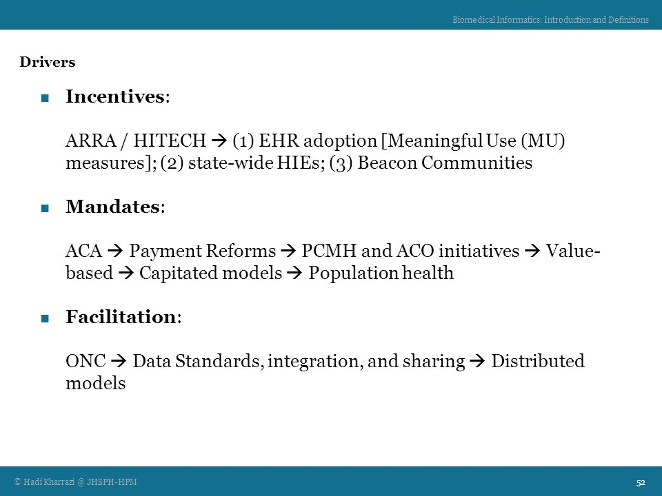 Biomedical Informatics: Introduction and Definitions - ppt ...